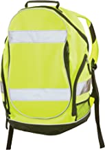 """ERB Safety Products 29003 BP1 Hi Viz Backpack, 19"""" Height, 8"""" Wide, 12.5"""" Length, Polyester, One Size, Lime"""