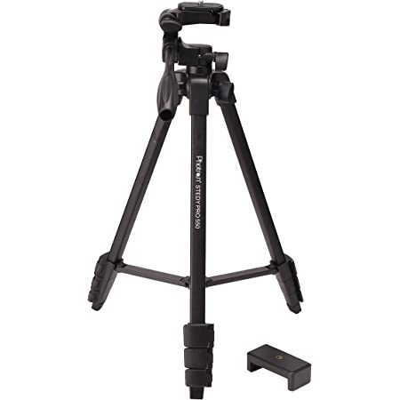 Photron STEDY PRO 550 Tripod with Mobile Holder for Smart Phone, DSLR, Mobile Phone   Maximum Operating Height: 1365mm   Weight Load Capacity: 2.5kg   Folded Height: 425mm, Case Included