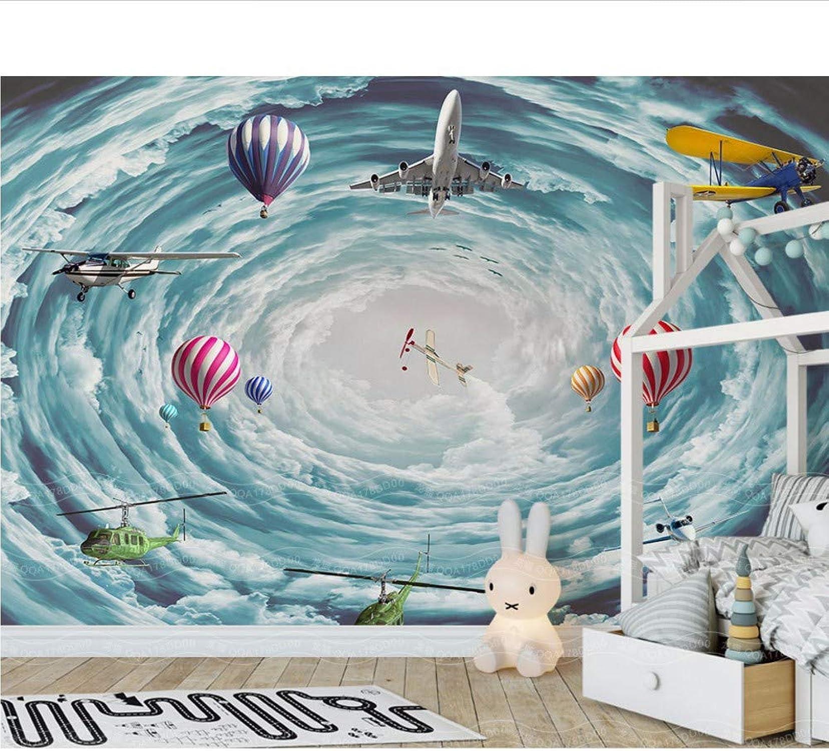 precios razonables Weaeo 3D Space Sky Airplane Fire Balloon Balloon Balloon 3D Cartoon Mural Wallpaper Para La Habitación Del Nio Del Bebé 3D Mural De Parojo De Papel De Parojo Decoración De La Parojo-200X140Cm  diseño simple y generoso