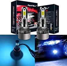 FANTELI H7 8000K Ice Blue LED Headlight Bulbs All-in-One Conversion Kit - 72W 8000LM High Beam/Low Beam/Fog Lights Extremely Bright
