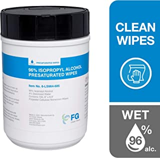 FG Clean Wipes 6-LS964-685 Presaturated Wipes Canister