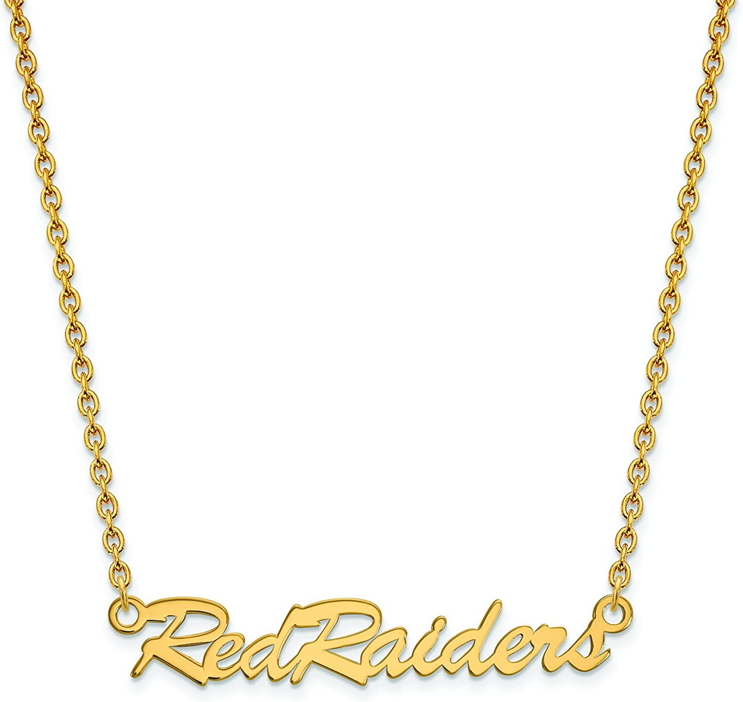 Texas Tech Medium (5 8 Inch) Pendant w Necklace (gold Plated)
