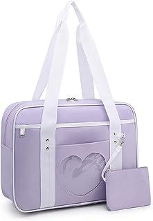 Lanpet Ita Bag Women's Shoulder Bag Heart Shape Japanese School Bags Kawaii Purse Large JK Anime Purse Comic Handbag