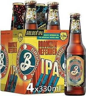 Brooklyn Brewery Defender IPA Craft Beer, 330 ml (Pack of 4)
