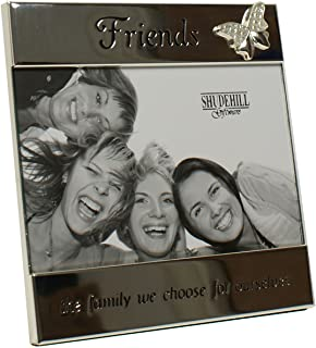 Friends 'the family we choose ourselves' Butterfly Silver Message Band Photo Frame by Shudehill