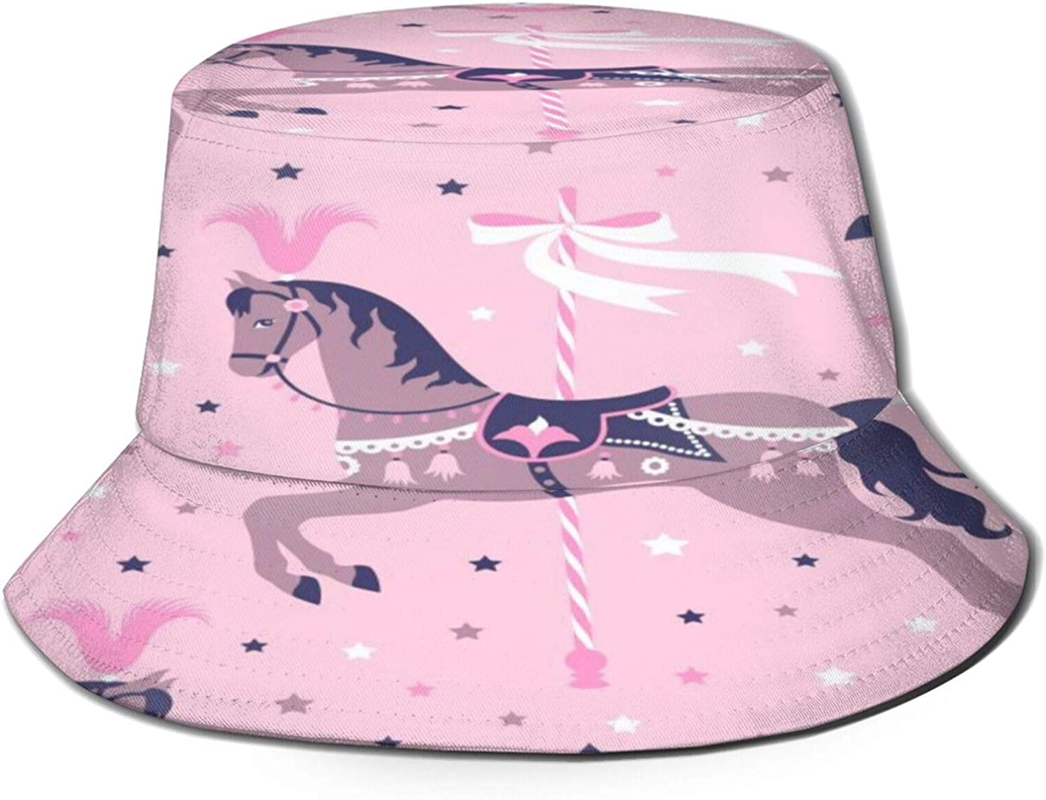 Direct stock discount Park Pink Carousel Toy Bucket Max 89% OFF Unisex Sun Summer Hat Packable