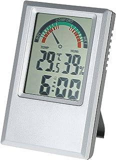 Tykeed °C/°F Digital Hygrometer Temperature Humidity Meter Alarm Clock Max Min Value Comfort Level Display