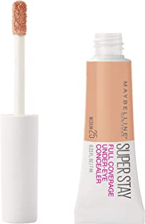 Maybelline Super Stay Super Stay Full Coverage, Brightening, Long Lasting, Under-eye Concealer Liquid Makeup Forup to 24H Wear, With Paddle Applicator, Medium, 0.23 fl. oz.
