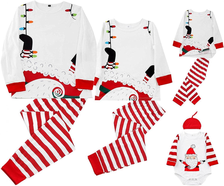 Christmas Matching Family Pajamas Set Long Sleeve Loungewear Outfits Sleepwear Suit for Women Men Kids Baby