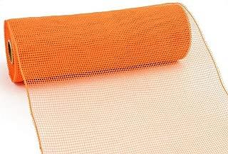 10 inch x 30 Feet Deco Poly Mesh Ribbon - Orange Non Metallic : RE130220