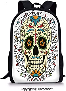 design School Backpack Back to School(17.3″) Catrina Calavera Featured Figure Orn