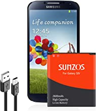 Galaxy S4 Battery, SUNZOS 2600mAh Replacement Battery Compatible with Samsung Galaxy S4,..