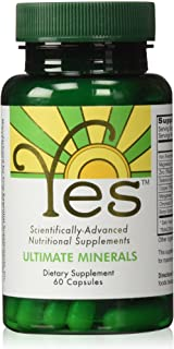 YES Ultimate Minerals Supplement 60ct | Vegan | for Mineral Deficiency Support: Iron, Magnesium, Zinc, Selenium, Copper, M...