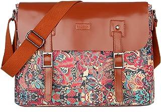 BAOSHA Leather Women's Messenger Bag Shoulder Bag School College Satchel Bookbag fits Ipad Kindle MS-07 (HS)