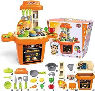 シェフロールプレイングゲームのおもちゃセット、料理のふり、カットフルーツのおもちゃ、各種アクセサリー