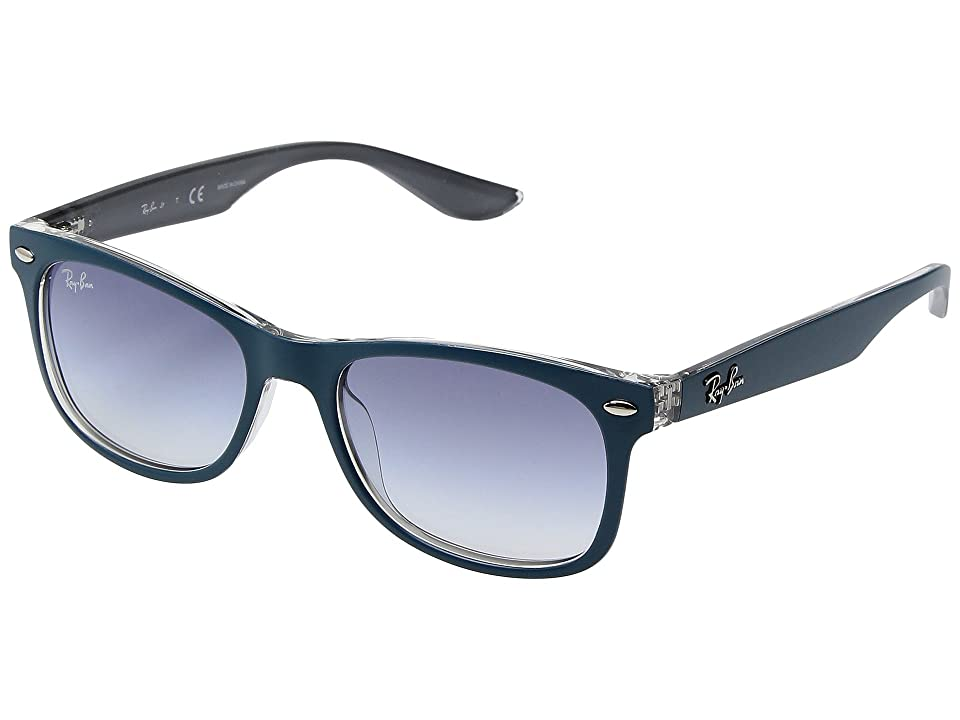 Ray-Ban Junior RJ9052S 48mm (Youth) (Top Matte Turquoise on Grey/Clear Gradient Light Blue) Fashion Sunglasses