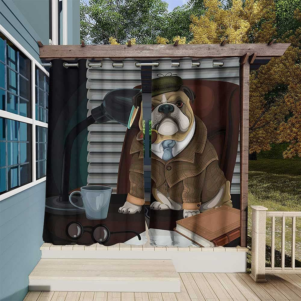 English Bulldog Outdoor- Department store Limited time sale Free Privacy Curtain Outdoor Standing