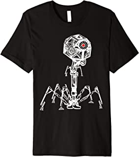 Steampunk Phage: Geeky Bacteria Virus T-Shirt