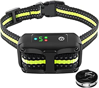Bark Collar Dog Bark Collar Rechargeable Shock Collar with Beep Vibration Dog Shock..