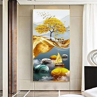 CNBPLS Style Nordique Impressions d'art,Cadre en Alliage D'aluminium Art Déco Posters Muraux,Couleurs Riches Imperméable E...