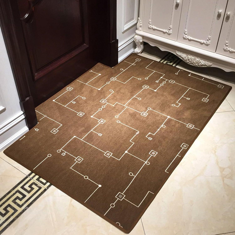 Nordic grid door mat Indoor mat The door Door Indoor mats Living room Bedroom Household non-slip mat-F 80x120cm(31x47inch)