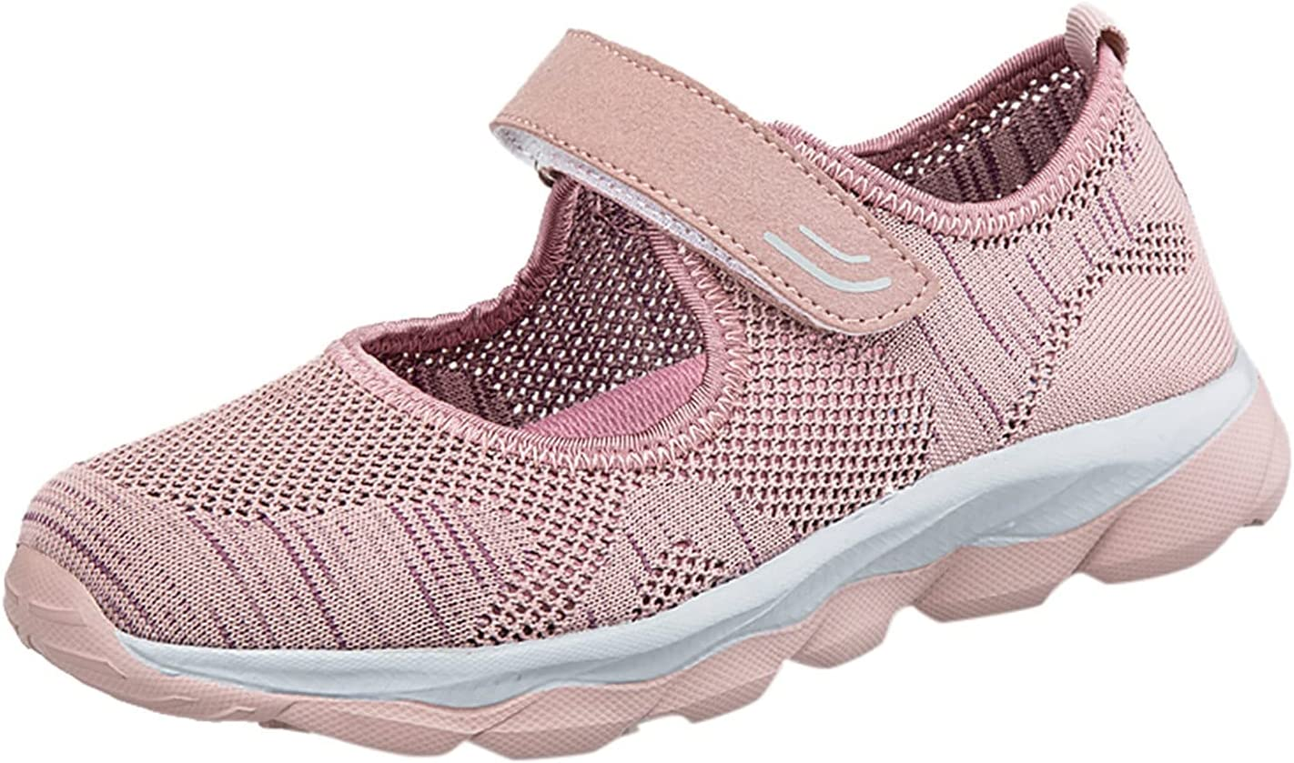 Bazahy Women Outdoor Mesh Solid Color Sports Shoes Slip-On Shoes Ladies Shoes Mesh Breathable Soft Sole Casual Sneakers Shallow Shoes Runing Breathable Shoes Sneakers