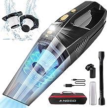 ANGGO Odkurzacz ręczny, akumulatorowy odkurzacz ręczny, bezprzewodowy, 9000 PA, 120 W, ze światłem LED, wydajny, bezprzewo...