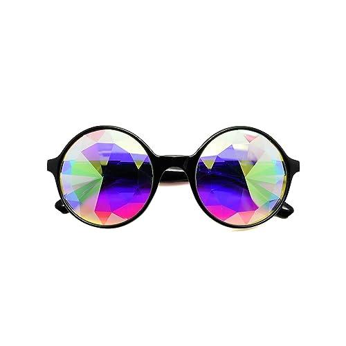 3a350c6042a ASVP Shop Kaleidoscope Round Crystal Lens Dance Rave Festival Party EDM Sunglasses  Glasses