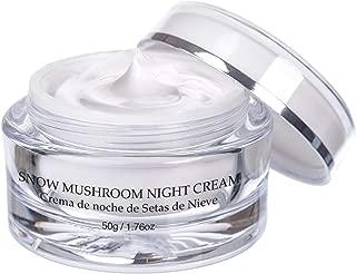 Vivo Per Lei Snow Mushroom & Peony Night Moisturizer - Anti Wrinkle Cream for Sensitive Skin - Anti Aging Night Cream with Shea Butter & Collagen - Paraben Free Moisturizer for Skin Woes - 50g