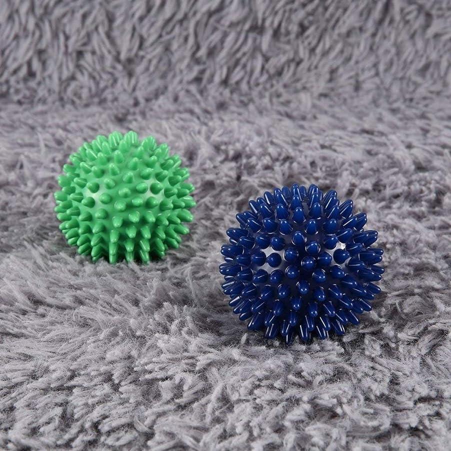 オーガニックマグ傾向PVC High Density Spiky Massage Ball Foot Pain & Plantar Fasciitis Reliever Treatment Hedgehog Ball Massage Acupressure Ball