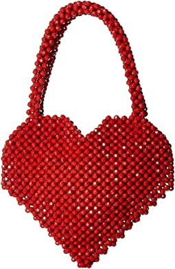 Maria Beaded Heart Tote