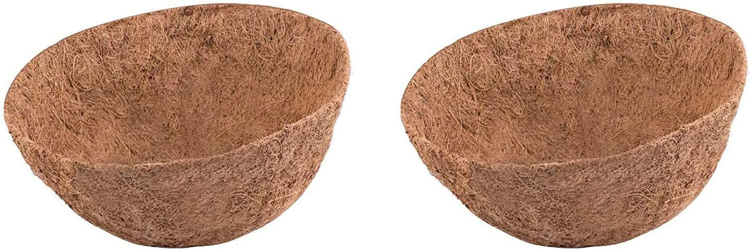 LAVZAN 4Pcs 12 inch Round Coco Liners for Hanging Basket Coconut Fiber Planter Inserts Replacement Liner for Garden Flower Pot