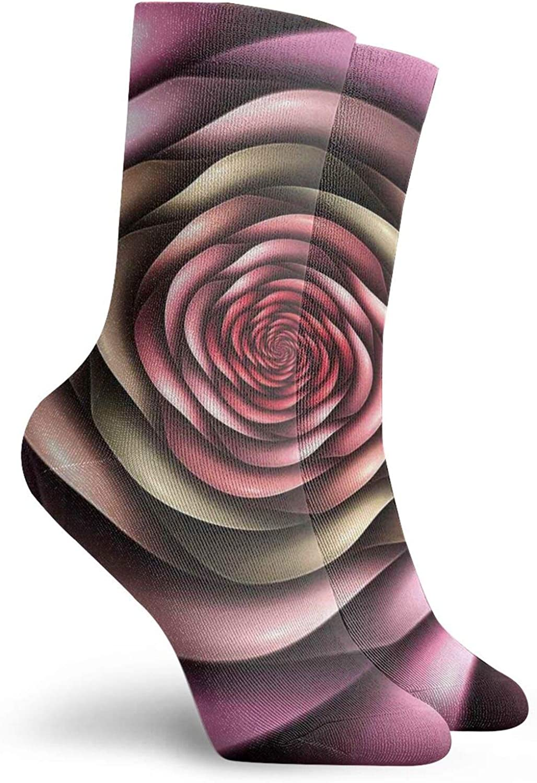 Round Circle Object Motifs Sphere Forms Vintage Medieval Design Pearls Oyster Dark Print Athletic Socks For Men / Women,30CM