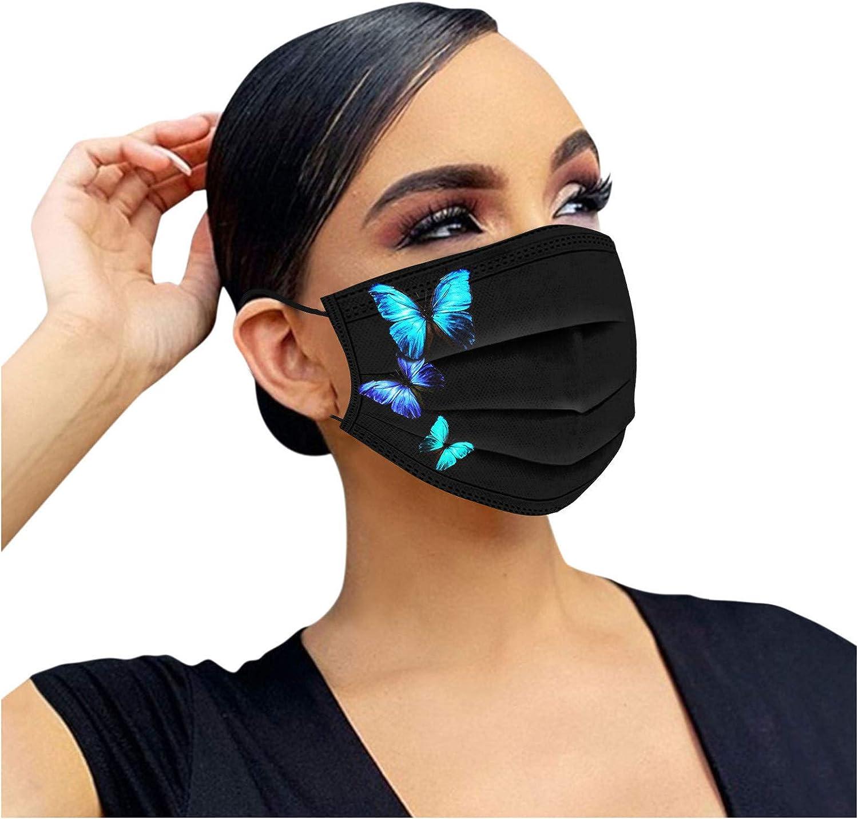 Einweg Erwachsene Bunt Mundschutz mit Motiv Schmetterling MNS Mund Nasenschutz 3 Lagig Atmungsaktiv Bandana Halstuch f/ür Damen Herren 10//20//50//100St/ück Einmal-Mundschutz