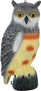 Bird Blinder Scarecrow Fake Owl Decoy - Pest Repellent Garden Protector - (Large) (Spotted)