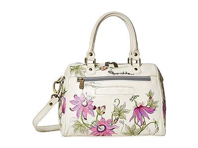 Anuschka Handbags Zip Around Classic Satchel 625 (Himalayan Bird) Handbags