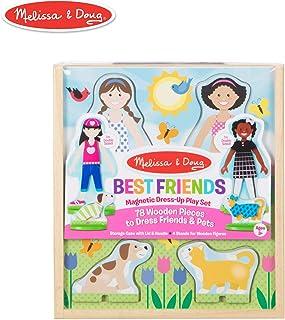 Melissa & Doug Best Friends Magnetic Dress-Up Pretend Play Set, Multi Color