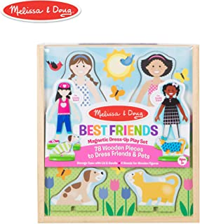 Melissa & Doug Best Friends Magnetic Dress-Up Pretend Play Set, Multi Color
