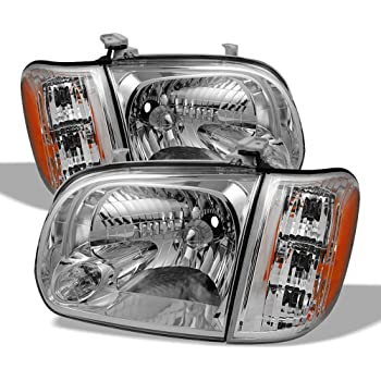 FOR 2005-2006 TOYOTA TUNDRA DOUBLE CAB//SEQUOIA REPLACEMENT HEADLIGHT LAMP CHROME