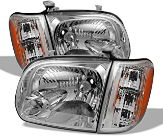 ACANII - For 2005-2006 Toyota Tundra 05-07 Sequoia Double   Crew Cab Headlights Headlamps w/Corner Driver & Passenger