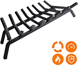 """Fireplace Log Grate 33 inch - 8 Bar Fire Grates - Heavy Duty 3/4"""" Wide Solid Steel - For Indoor Chimney Hearth Outdoor Fire Place Kindling Tool Pit Wrought Iron Wood Stove Firewood Burning Rack Holder"""