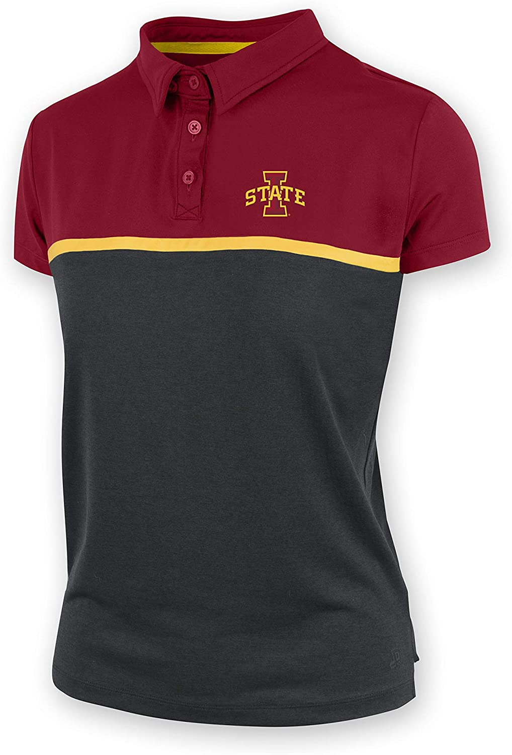 Authentic Brand Iowa State Cyclones Marta Ladies Polyester Spandex Jersey Knit Polo