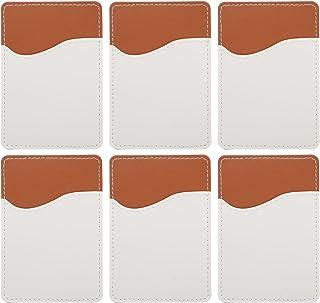 WINOMO 6 uppsättningar sublimering tom telefon plånbok PU läder självhäftande korthållare ficka mobiltelefon fodral hållar...
