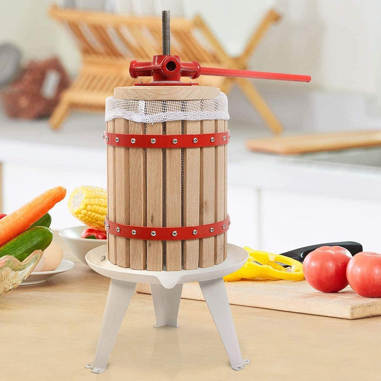 Exprimidor Manual De Prensa Vino, Fruta Sidra Roble Incluyendo Baya Potencia La Puré Madera para Pulpa UVA Mecánica,A A