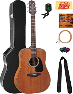 Takamine GD11M Mahogany Dreadnought Acoustic Guitar - Natural Satin Bundle with Hard Case, Cable, Tuner, Strap, Strings, Picks, Austin Bazaar Instructional DVD, and Polishing Cloth