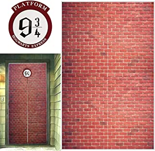 Platform 9 And 3/4 King's Cross Station, Curtains Door for Harry Potter, Red Brick Wall Party Backdrop, Party Supplies Decoration Halloween, Secret Passage To The Magic School, Platform Harry Potter 78.7