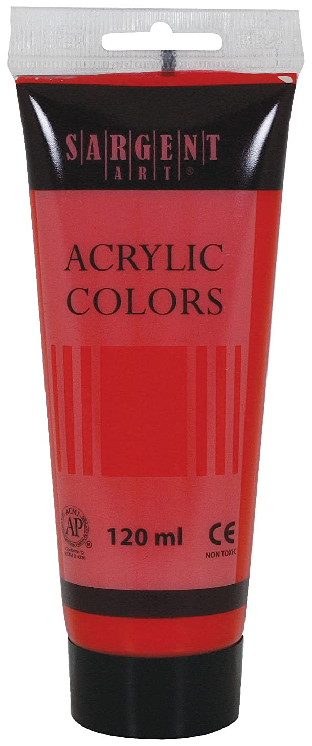 Sargent Art 23-0320 120Ml Tube Acrylic Paint, Cadmium Red Hue