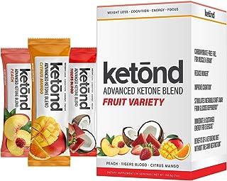 Ketond Advanced Ketone Supplement — Best Ketone Weight Loss Supplement — Citrus Mango, Tigers Blood, Peach (15 Stick Packs)
