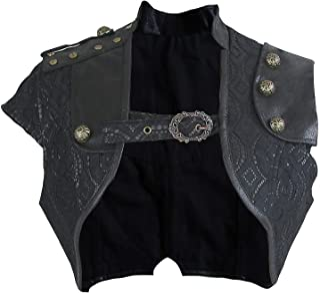 Charmian Women's Steampunk Gothic Lace Brocade Corset Shrug