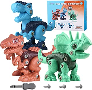 MEIGO Take Apart Dinosaur Toys - STEM Learning Building Toys Construction Engineering Play Tool Set Gift for Kids 3 4 5 6 Year Old Boys Girls …